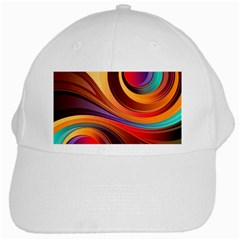 Abstract Colorful Background Wavy White Cap
