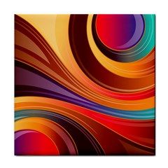 Abstract Colorful Background Wavy Tile Coasters