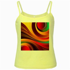 Abstract Colorful Background Wavy Yellow Spaghetti Tank