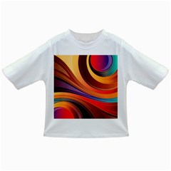 Abstract Colorful Background Wavy Infant/toddler T Shirts