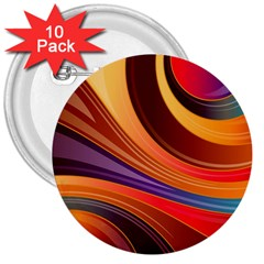 Abstract Colorful Background Wavy 3  Buttons (10 Pack)