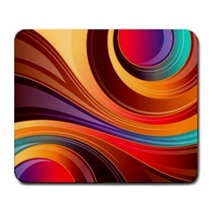 Abstract Colorful Background Wavy Large Mousepads