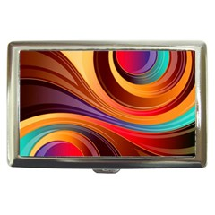 Abstract Colorful Background Wavy Cigarette Money Cases