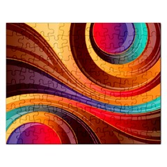 Abstract Colorful Background Wavy Rectangular Jigsaw Puzzl