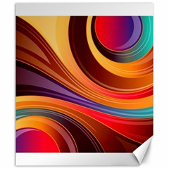 Abstract Colorful Background Wavy Canvas 20  X 24