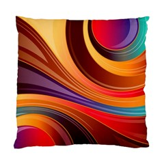 Abstract Colorful Background Wavy Standard Cushion Case (one Side)