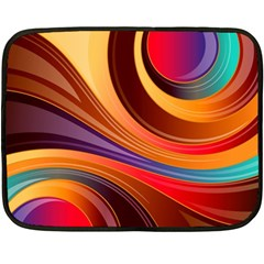 Abstract Colorful Background Wavy Double Sided Fleece Blanket (mini)