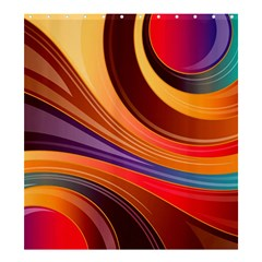 Abstract Colorful Background Wavy Shower Curtain 66  X 72  (large)