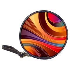 Abstract Colorful Background Wavy Classic 20 Cd Wallets