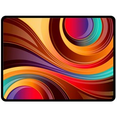 Abstract Colorful Background Wavy Fleece Blanket (large)
