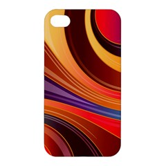 Abstract Colorful Background Wavy Apple Iphone 4/4s Hardshell Case