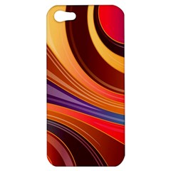 Abstract Colorful Background Wavy Apple Iphone 5 Hardshell Case