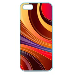 Abstract Colorful Background Wavy Apple Seamless Iphone 5 Case (color)