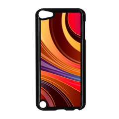 Abstract Colorful Background Wavy Apple Ipod Touch 5 Case (black)