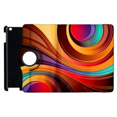 Abstract Colorful Background Wavy Apple Ipad 3/4 Flip 360 Case