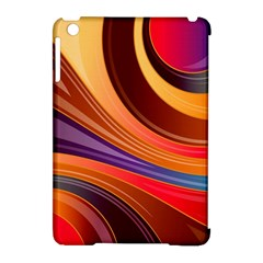 Abstract Colorful Background Wavy Apple Ipad Mini Hardshell Case (compatible With Smart Cover)