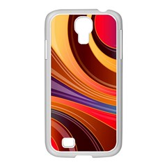 Abstract Colorful Background Wavy Samsung Galaxy S4 I9500/ I9505 Case (white)