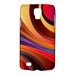Abstract Colorful Background Wavy Galaxy S4 Active