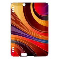 Abstract Colorful Background Wavy Kindle Fire Hdx Hardshell Case