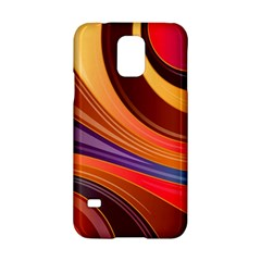 Abstract Colorful Background Wavy Samsung Galaxy S5 Hardshell Case