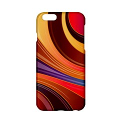 Abstract Colorful Background Wavy Apple Iphone 6/6s Hardshell Case