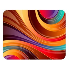 Abstract Colorful Background Wavy Double Sided Flano Blanket (large)