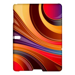 Abstract Colorful Background Wavy Samsung Galaxy Tab S (10 5 ) Hardshell Case