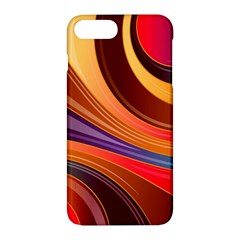 Abstract Colorful Background Wavy Apple Iphone 7 Plus Hardshell Case
