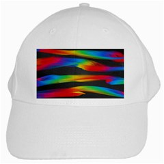 Colorful Background White Cap