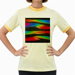 Colorful Background Women s Fitted Ringer T Shirts