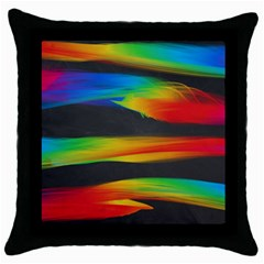 Colorful Background Throw Pillow Case (black)