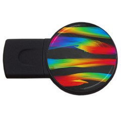 Colorful Background Usb Flash Drive Round (2 Gb)
