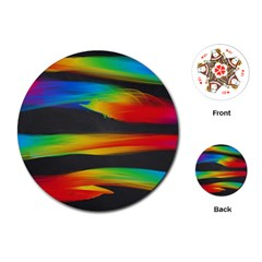 Colorful Background Playing Cards (round)