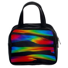 Colorful Background Classic Handbags (2 Sides)