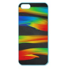Colorful Background Apple Seamless Iphone 5 Case (color)