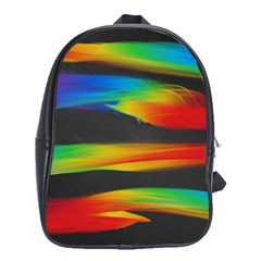 Colorful Background School Bag (xl)