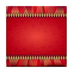 Background Red Abstract Tile Coasters