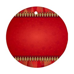 Background Red Abstract Ornament (round)
