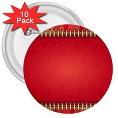 Background Red Abstract 3  Buttons (10 Pack)