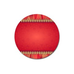 Background Red Abstract Magnet 3  (round)
