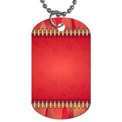 Background Red Abstract Dog Tag (one Side)