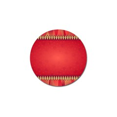 Background Red Abstract Golf Ball Marker (10 Pack)