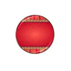 Background Red Abstract Hat Clip Ball Marker