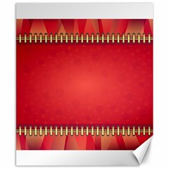 Background Red Abstract Canvas 8  X 10