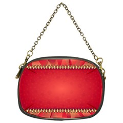 Background Red Abstract Chain Purses (one Side)
