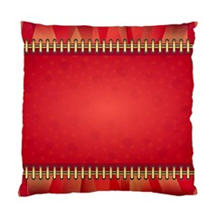 Background Red Abstract Standard Cushion Case (one Side)