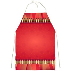 Background Red Abstract Full Print Aprons