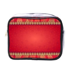 Background Red Abstract Mini Toiletries Bags