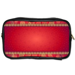 Background Red Abstract Toiletries Bags