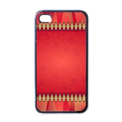 Background Red Abstract Apple Iphone 4 Case (black)